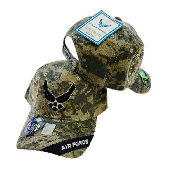 Licensed Digital Camo VECTOR Hat [Air Force on Bill]